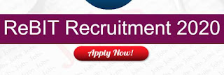 Sarkari Naukri Latest 2020 : ReBIT Recruitment For Junior Administrative & Systems Engineer Posts
