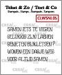"""Clearstempelset woordstrips met o.a. """"zijn"""". Clearstampset word strips (Dutch words)."""