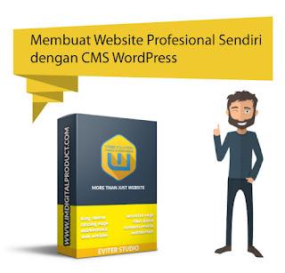 cara membuat website profesional sendiri dengan CMS wordpress