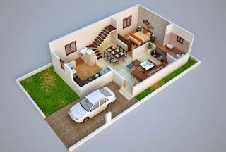 3D house plan map