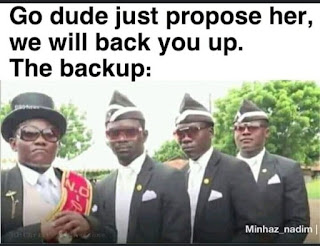 Go dude just propose her,  we will back yuo up.   the backup: