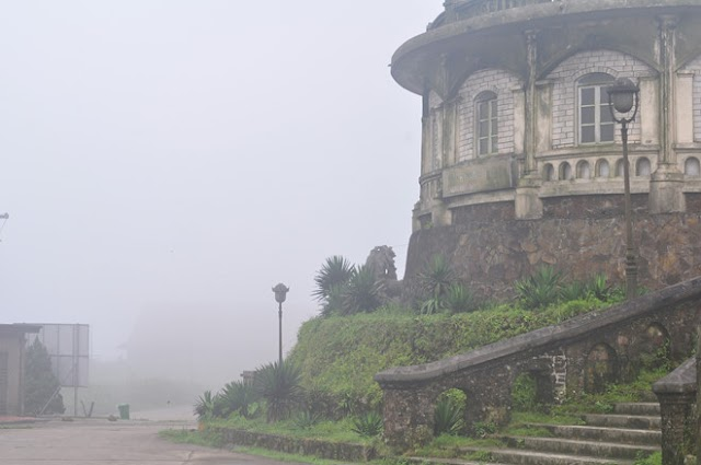 Early in the morning, foggy covered on the top of Mau Son