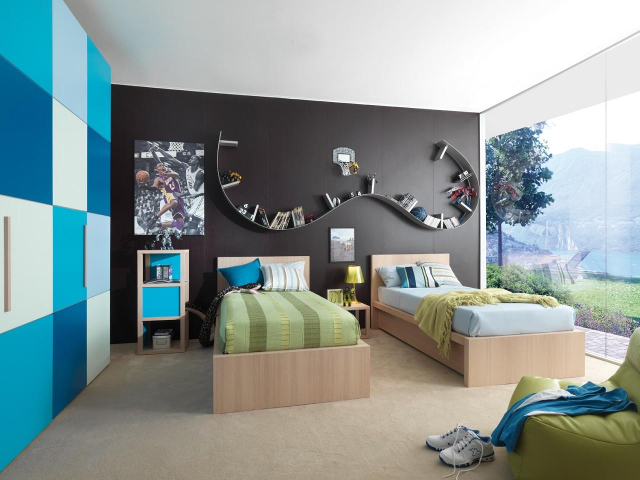 Fotos de dormitorios juveniles para dos chicos - Decoracion de paredes de dormitorios juveniles ...