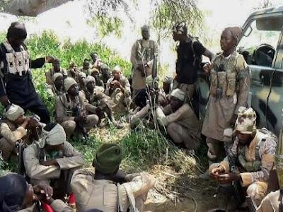 How Police, DSS Frame Sunday Igboho with Arms; Frame Nnamdi Kanu's IPOB ESN. [PHOTOS]