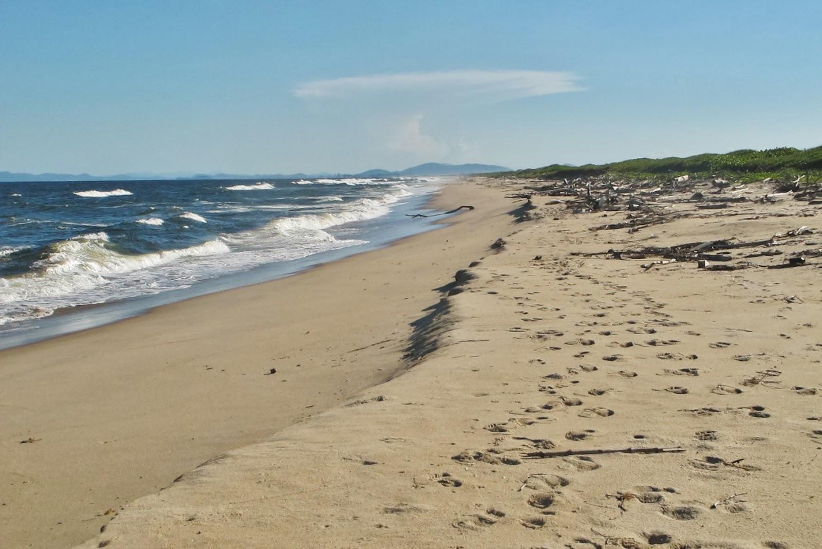Praia paralela ao Rio Itapocu, entre Barra Velha e Araquari, no litoral catarinense.