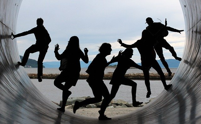 Teamwork einer Gruppe von Menschen