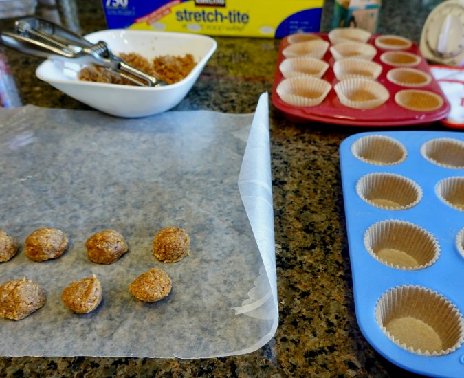 Chocolate Pecan Butter Cups process