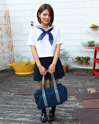 Japanese Kawai Model Tsubasa Akinomoto Uniform