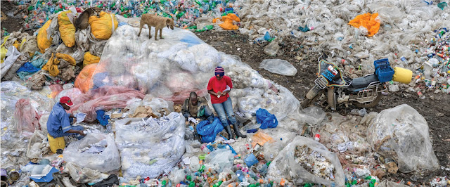 Dandora landfill#3 plastics recycling, Nairobi Kenya 2016.