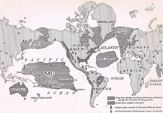 The Lost Continents of Mu and Lemuria