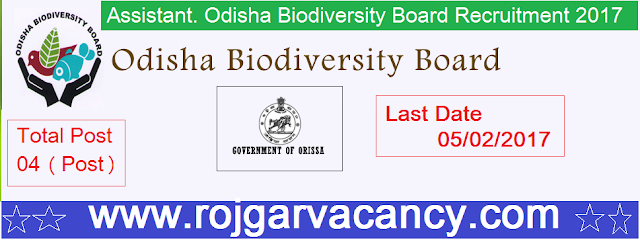04-project-coordinator-assistant-odisha-Odisha-Biodiversity-Board-Recruitment-2017
