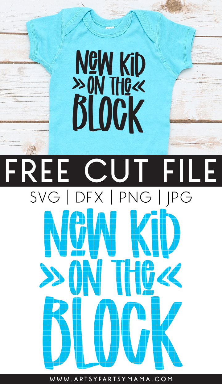 "Free Baby ""New Kid on the Block"" Cut File"