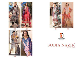 Shraddha Designer Sobia nazir Vital vol 3 Pakistani Suits wholesale