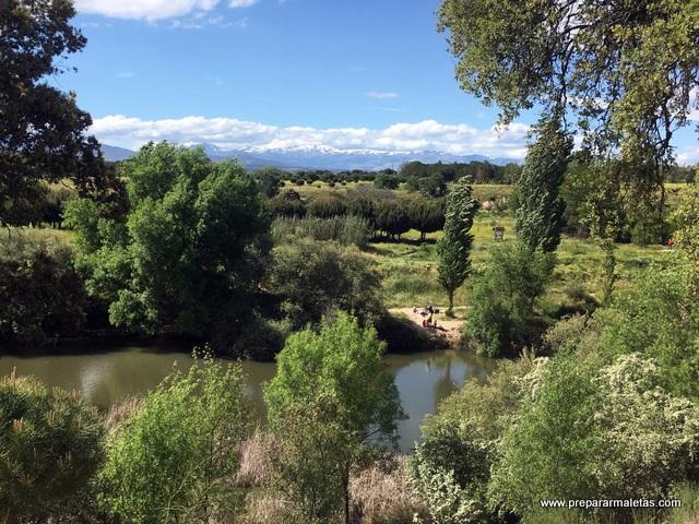 vistas Monte de El Pardo y río Manzanares