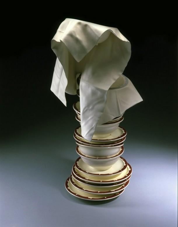 tom eckert wood cloth sculptures