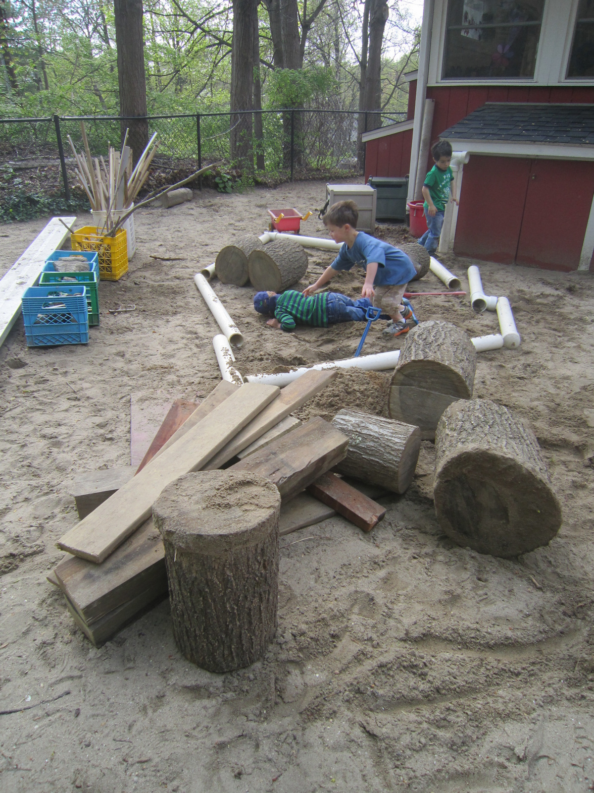 Playfully Learning: Loose Parts- Creativity On The Playground