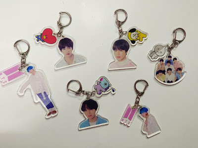 BTS Keyrings Collection
