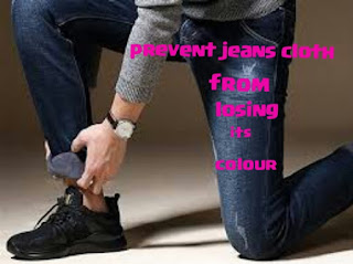 prevent jeans cloth from losing its color