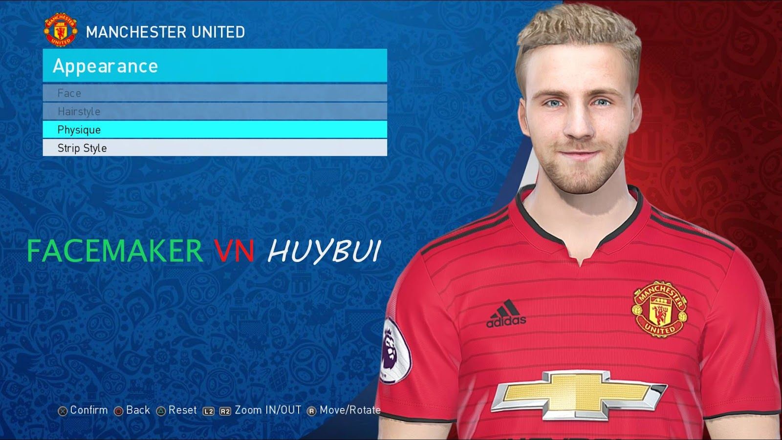 PES 2019 Luke Shaw by Facemaker VN HUY BUI