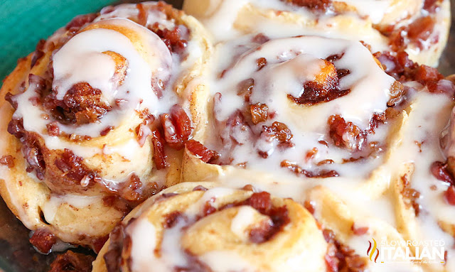 Lazy Day Bacon Cinnamon Rolls