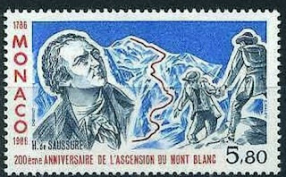 Monaco 1986 Mountains Mt Blanc Jacques Balmat and Dr. Michel-Gabriel Paccard