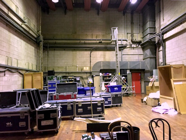 Family Activities in Nottingham | Morgan's Milieu: Backstage at Nottingham Theatre Royal, sloped stage and lots of storage.