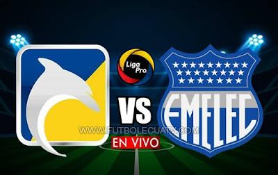 Delfín recibe a Emelec en vivo desde las 18h15 horario de nuestro país, siendo transmitido por GolTV Ecuador por la fecha cinco del campeonato ecuatoriano. A jugarse en el Estadio Jocay de Manta, teniendo como juez de campo a Roberto Sánchez.