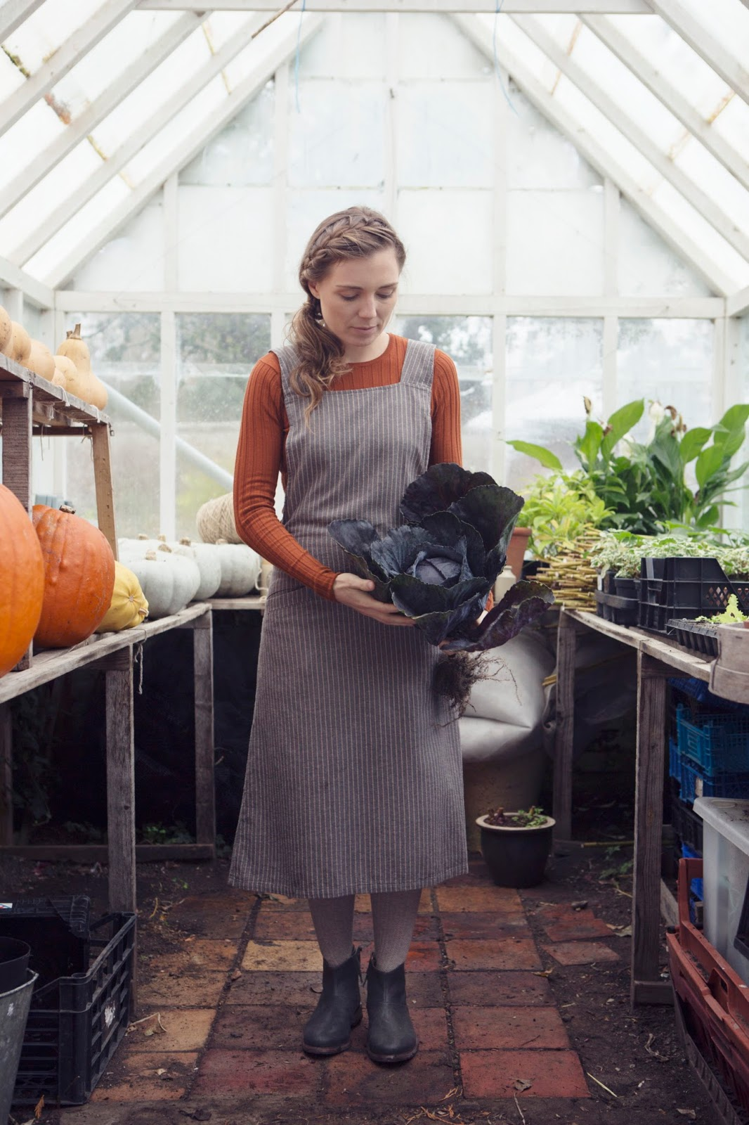 dean's court, deans court, eco, ethical, organic, greenhouse, aprons, empowerment, vegetables