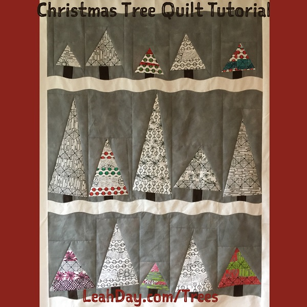 The Free Motion Quilting Project: Wonky Christmas Tree Quilt Tutorial