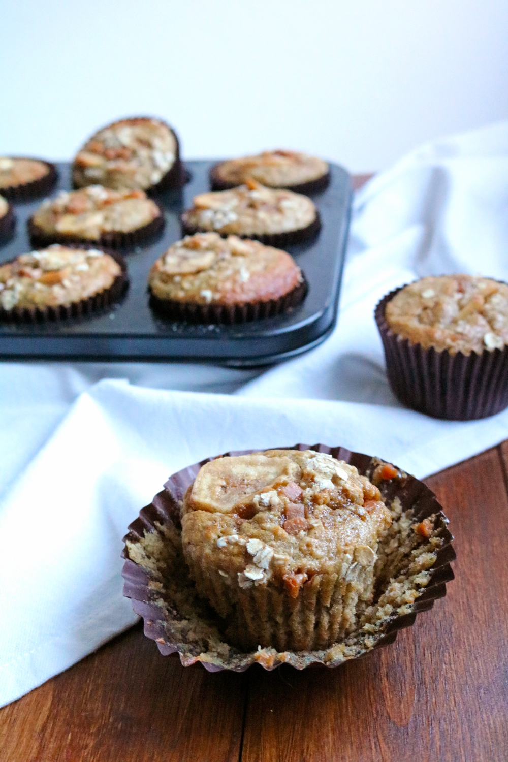 Banana and Oat Breakfast Muffins | Hungry Little Bear