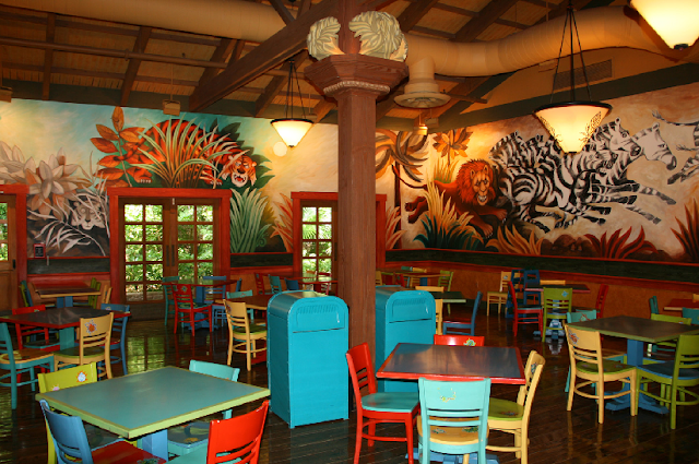 Restaurante Pizzafari no Animal Kingdom em Orlando