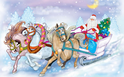 2013_Santa_claus_riding_in_snow_with_gifts_picture_download