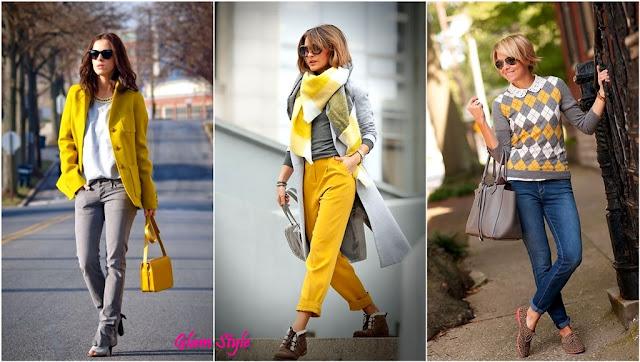 giallo e grigio abbinamenti