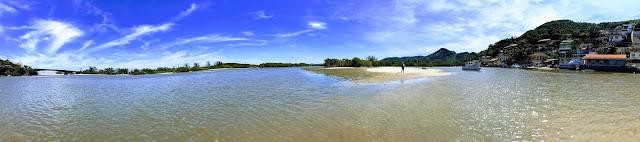 Barra de Guaratiba, excelente para pratica de SUP
