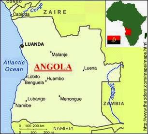 Peta Negara Angola