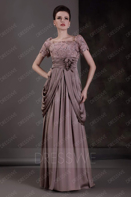Lace Column/Sheath Scoop Neckline Floor-length Luba's Mother of the Bride Dress