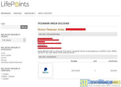 Penukaran poin online survey LifePointsPanel dengan saldo PayPal terbaru | SurveiDibayar.com