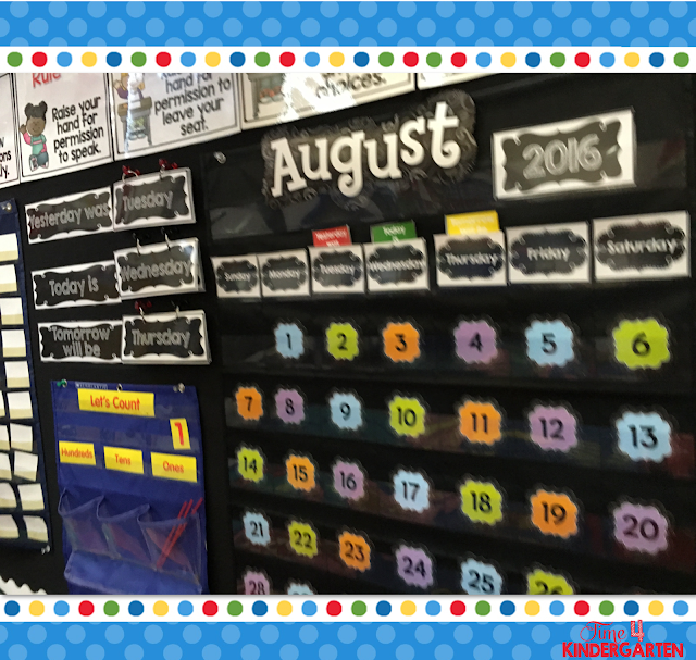 Use calendar walls with  Interactive Calendar Notebooks to expand your morning calendar routine and make it interactive for all students.