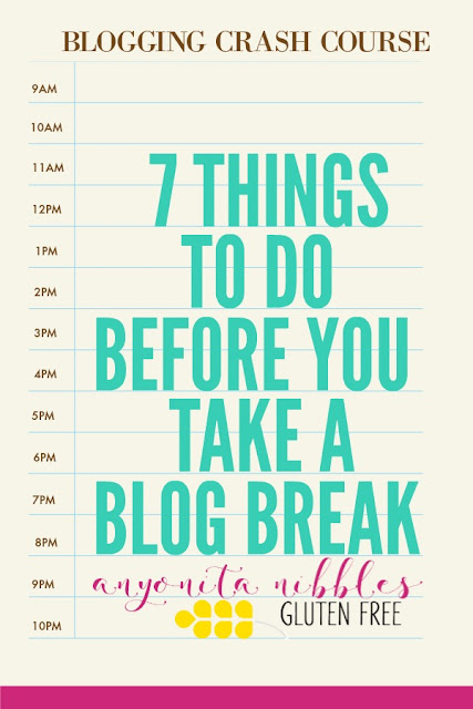 Planning on putting professional blogging on pause for a while? Before you do, make sure you follow this checklist to make your return smooth and simple!