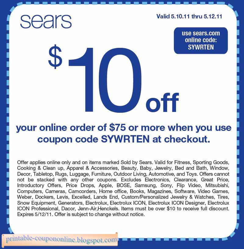 Sears Coupons & Promo Codes - February 12222