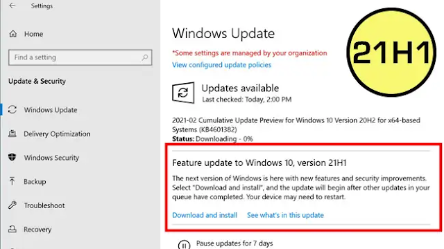 """""""There is actually only one new feature"""" Microsoft announces Windows10 21H1 update"""