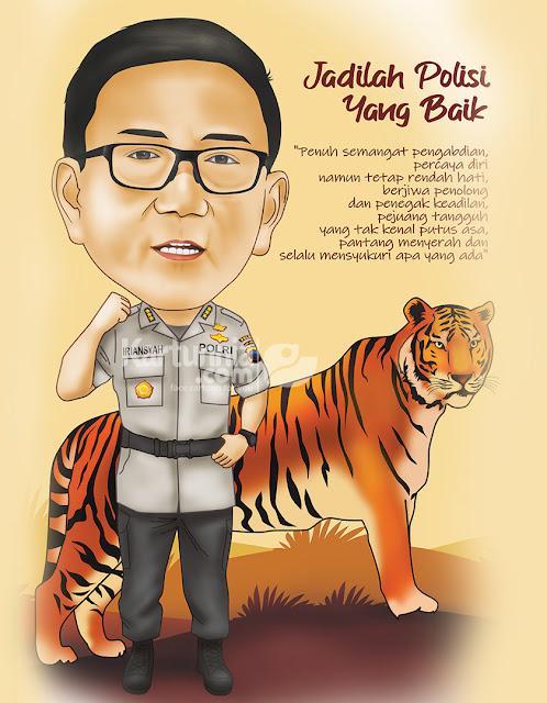 Karikatur Polisi Semangat