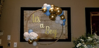 It's a Boy wood sign rental for baby shower