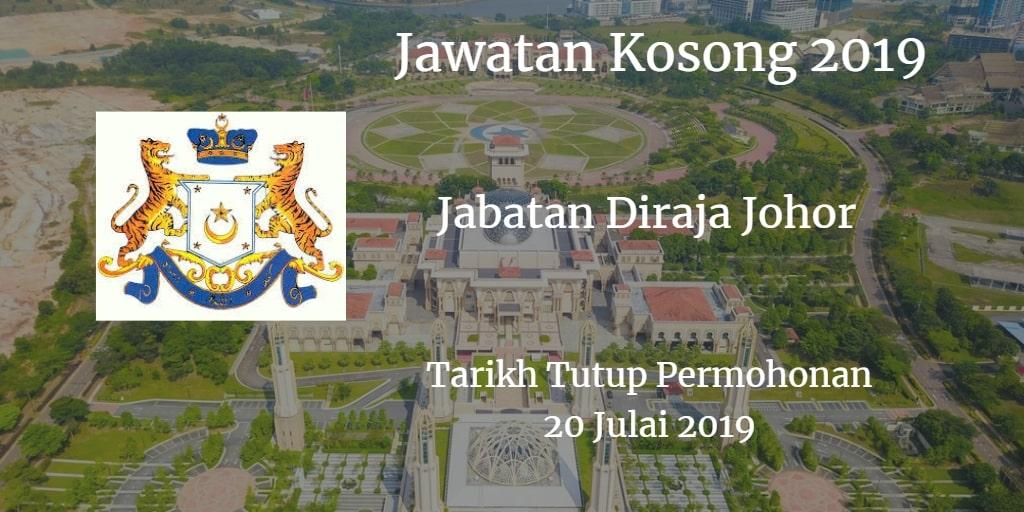 Jawatan Kosong Jabatan Diraja Johor 20 July 2019