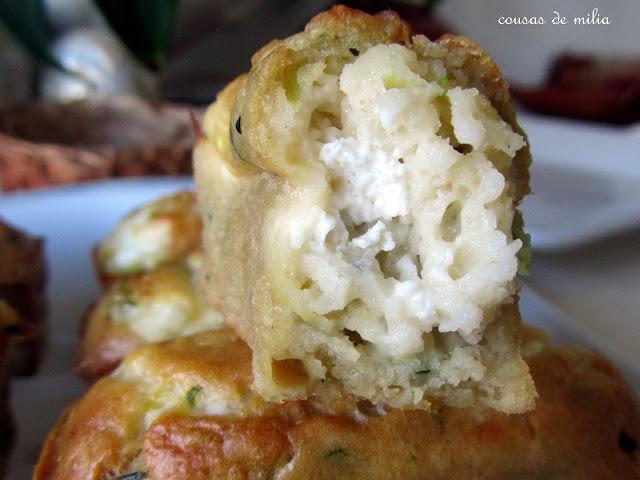 Mini Cakes de calabacín y queso de cabra