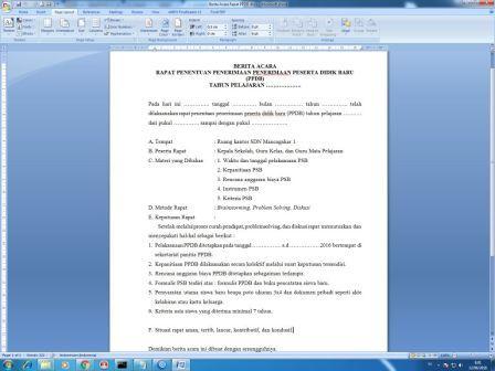 Berita Acara Rapat Ppdb Arsip Kantor Download File Dokumen Gratis