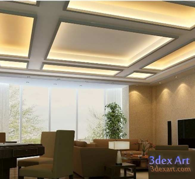 Modern Interior Decoration Living Rooms Ceiling Designs: Latest False Ceiling Designs For Living Room And Hall 2019