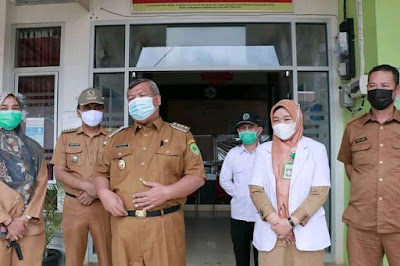 Pj bupati Pali tinjau rumah sakit pratama kecamatan tanah abang