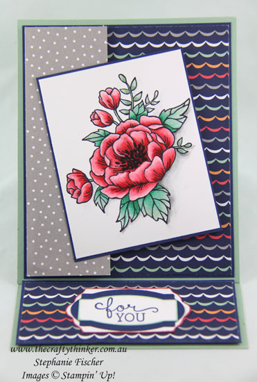 Easel Card, #crazycraftersbloghop, #thecraftythinker, Birthday Blooms, Stampin Up