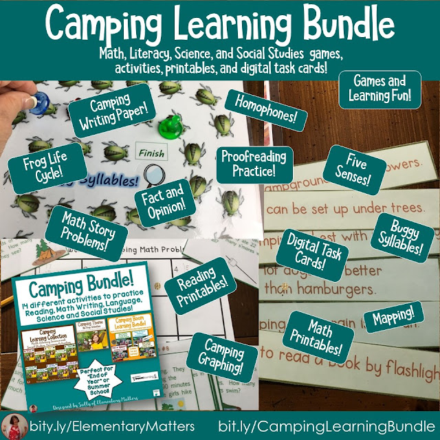 https://www.teacherspayteachers.com/Product/Camping-No-Prep-Activities-thriftythursday-1261359?utm_source=Camping%20blog%20post&utm_campaign=Camping%20Bundle